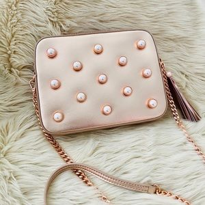 Ted Baker Alessia Gold Rose Pearl Bag